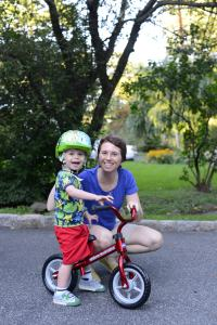Mom and Jonah Bicycle